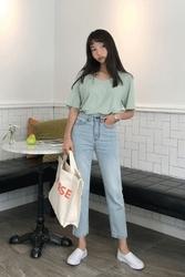 mocobling-韩国时尚宽松日常韩国代购牛仔裤女装2017年08月09日08月款