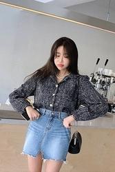 2018新款韩国服装mocobling品牌韩版时尚牛仔短裙(2018.1月)