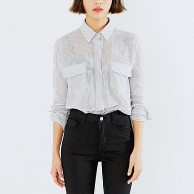 mossbean-春季韩版条纹衬衫