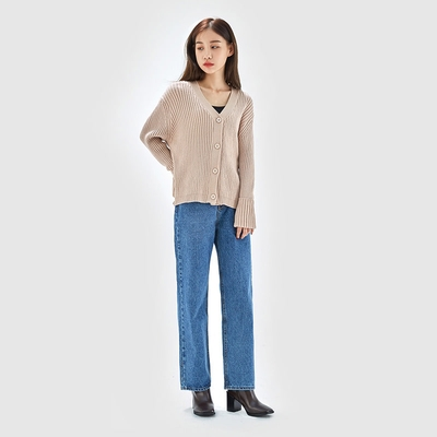 mossbean-时尚魅力纯色开襟衫
