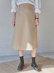 2018新款韩国服装mossbean品牌休闲舒适纯色长裙(2018.1月)