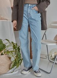 2018新款韩国服装mossbean品牌休闲百搭直筒牛仔裤(2018.1月)