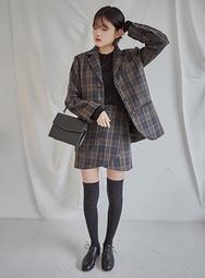 2018新款韩国服装mossbean品牌休闲舒适格子夹克(2018.1月)