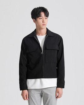 1区韩国本土服装代购(韩国圆通直发)Mutnam-新款拉链纯色夹克(本商品是非新品,请联系客服核对再下单哦10上架)