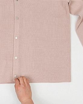 1区韩国本土服装代购(韩国圆通直发)Mutnam-V领纯色休闲开襟衫(本商品是非新品,请联系客服核对再下单哦10上架)