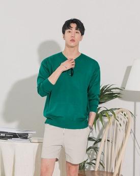 1区韩国本土服装代购(韩国圆通直发)Mutnam-韩版纯色V领针织衫(本商品是非新品,请联系客服核对再下单哦10上架)