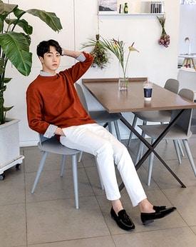 1区韩国本土服装代购(韩国圆通直发)Mutnam-新款圆领时尚针织衫(本商品是非新品,请联系客服核对再下单哦11上架)