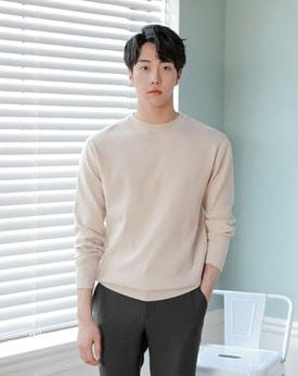 1区韩国本土服装代购(韩国圆通直发)Mutnam-简约纯色流行针织衫(本商品是非新品,请联系客服核对再下单哦16上架)