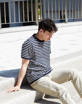 1区韩国本土服装代购(韩国圆通直发)Mutnam-新款圆领条纹针织衫(本商品是非新品,请联系客服核对再下单哦16上架)