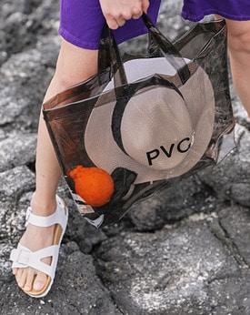 1区韩国本土服装代购(韩国圆通直发)Mutnam-夏日韩版PVC手提包(2018-06-18上架)