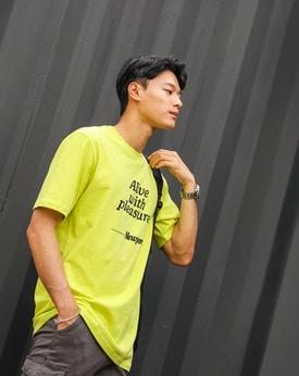 1区韩国本土服装代购(韩国圆通直发)Mutnam-字母简约流行T恤(2018-07-07上架)