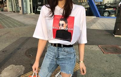 1区韩国本土服装代购(韩国圆通直发)mybany-人物时尚新款T恤(2018-04-12上架)