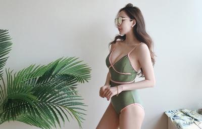 1区韩国本土服装代购(韩国圆通直发)mybany-可爱时尚韩版泳装(2018-05-25上架)