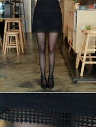 1区韩国代购正品验证fiona-FNSS00766043-淑女风高档穿孔修身短裙
