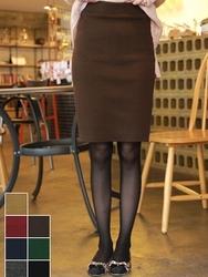 1区韩国代购正品验证fiona-FNMS00784448-淑女风修身竹节中裙