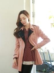 1区韩国代购正品验证fiona-FNJK00784437-淑女风双排扣肩章夹克