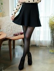 1区韩国代购正品验证fiona-FNCL00784428-淑女风压褶纯色裙裤
