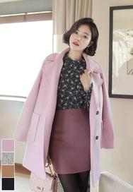 2018新款韩国服装fiona品牌时尚流行可爱大衣(2018.1月)
