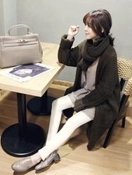 1区韩国代购正品验证naning9-NGCA00831537-时尚百搭保暖长款开襟衫