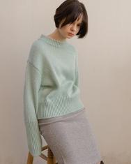 1区2017冬季新款韩国服装nuissue品牌修身针织纯色中裙(2017.11月)