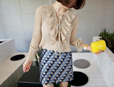 pinkboll-时尚韩版纯色长袖衬衫