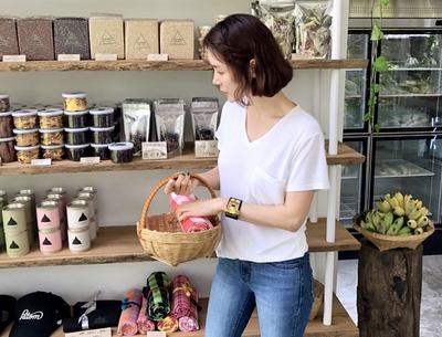 pinkboll-时尚V领丝光纱T恤