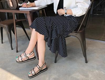 1区韩国本土服装代购(韩国圆通直发)pinkboll-时尚流行圆点长裙(2018-04-24上架)