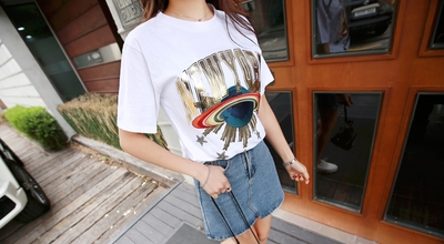pippin-韩版修身图案T恤