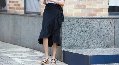 1区韩国本土服装代购(韩国圆通直发)pippin-个性纯色韩版中裙(本商品非新品请联系客服核对再下单-27上架)