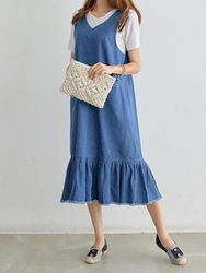 2018新款韩国服装pippin品牌时尚流行牛仔连衣裙(2018.1月)