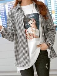 2018新款韩国服装pippin品牌时尚风格格纹衬衫(2018.1月)