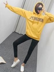 2018新款韩国服装pippin品牌时尚风格字母卫衣(加绒)(2018.1月)