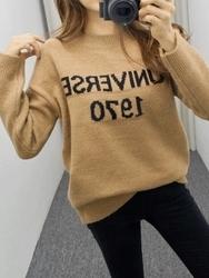 2018新款韩国服装pippin品牌时尚流行字母针织衫(2018.1月)