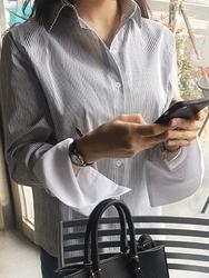 2018新款韩国服装pippin品牌时尚流行条纹衬衫(2018.1月)