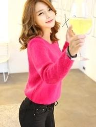1区韩国代购正品验证planj-PJKN00831556-明朗纯色圆领基本针织衫