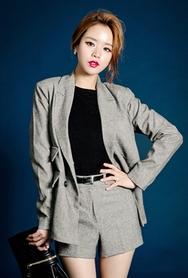 1区韩国服装网店代理一件代发planj-PJJK00944567-时尚宽松双排扣西装夹克