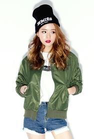 1区韩国服装网店代理一件代发planj-PJJK00946337-韩版棒球领短款夹克