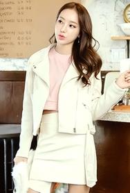 1区韩国代购|网店代理女装planj-PJJK00954971-时尚休闲淑女夹克
