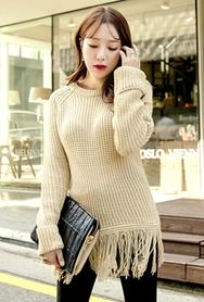 1区韩国代购|网店代理女装planj-PJKN00957403-秋季时尚甜美淑女针织衫