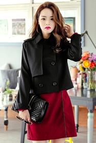 1区韩国代购|网店代理女装planj-PJJK00957801-时尚女郎修身短款夹克