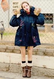 1区韩国代购|网店代理女装planj-PJJK00962101-秋季休闲淑女字纹夹克