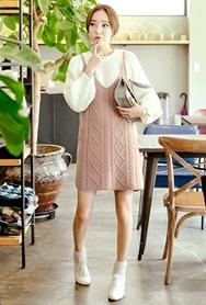 1区韩国代购|网店代理女装planj-PJKN00962667-秋季休闲淑女吊带针织衫