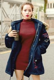 1区韩国代购|网店代理女装planj-PJKN00962666-秋季淑女长款修身针织衫