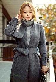 1区韩国代购|网店代理女装planj-PJCT00967671-韩版秋季时尚保暖女士大衣