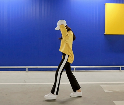 planj-韩版时尚舒适长裤