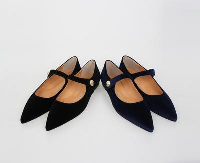 1区韩国本土服装代购(韩国圆通直发)Prost-J-流行复古尖头平底鞋(2018-07-09上架)