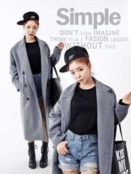 1区韩国代购正品验证qnigirls-QNCT00831435-休闲西装领长款毛呢大衣