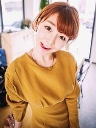 1区韩国代购正品验证qnigirls-QNOP00849323-淑女风高腰褶边修饰纯色连衣裙