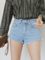 qnigirls-韩国搭配魅力牛仔新款韩国代购短裤女装2017年07月28日夏季款