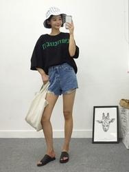 qnigirls-韩国时尚魅力个性流行牛仔韩国代购短裤女装2017年08月02日08月款
